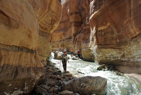 Радиальный выход по каньону, Иордания