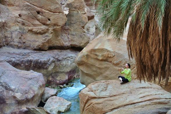 Песни пустынного ветра в каньоне, Иордания