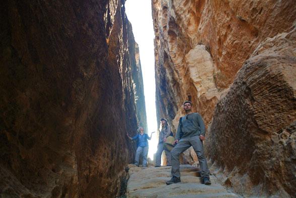 Лестница в ущелье, Малая Петра, Иордания