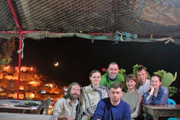 Наша группа в гостинице, Вади Муса, Иордания