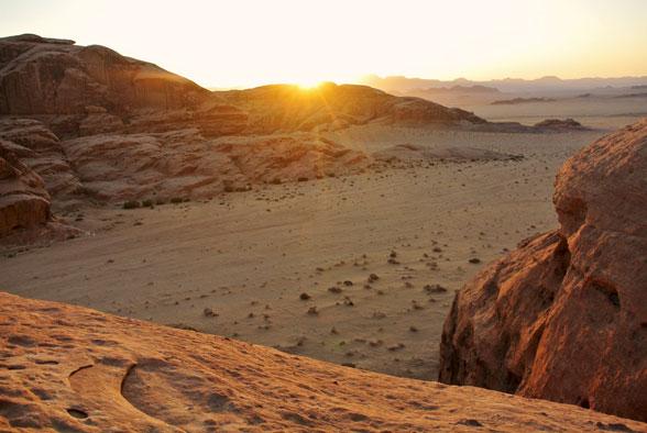 Закат в пустыне Вади Рам, Иордания
