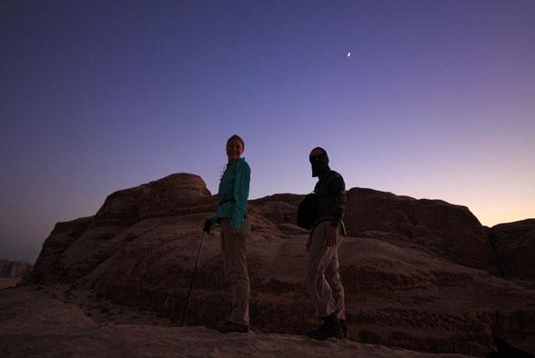 Фиолетовая пустыня Иордании