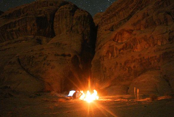 Наш лагерь в пустыне Вади Рам, Иордания