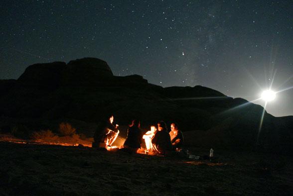 Наш лагерь под звездами пустыни, Иордания