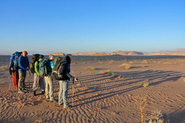 Рассвет в пустыне Вади Рам, Иордания