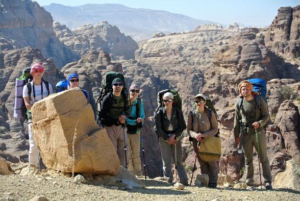 В верховьях сухих каньонов, Иордания