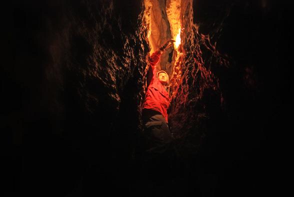 Лазание в пещере