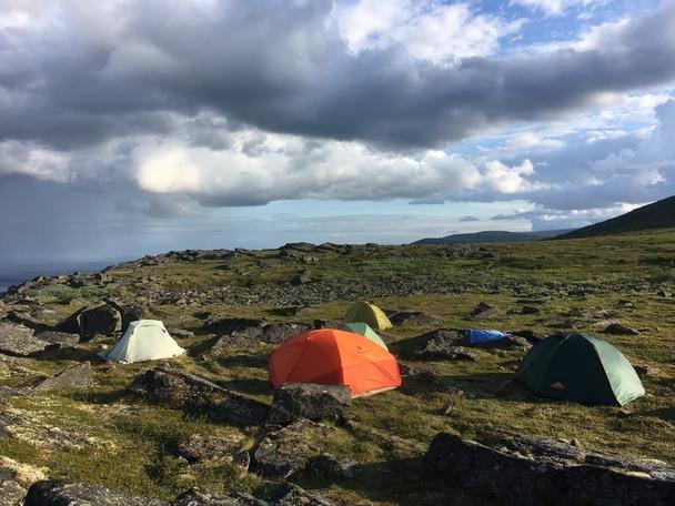 Первый лагерь в походе