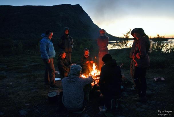 Лагерь на берегах озера Светлое