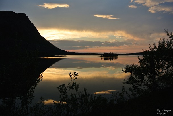 Закат на озере Светлое