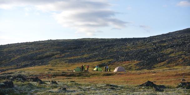 Наш лагерь во время похода по Ловозерским тундрам